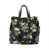 Auth Prada 2WAY Bag Tesuto Women's Nylon Handbag,Shoulder Bag Black
