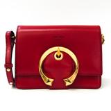 Jimmy Choo MADELINE Women's Leather Shoulder Bag Red Color