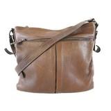 Auth Prada Shoulder Bag Women's Leather Brown