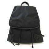 Balenciaga Classic Traveller 387285 Unisex Leather,Nylon Backpack Black