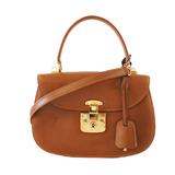Auth Gucci 2way Bag 000 46 0210 Women's Leather Handbag,Shoulder Bag Camel