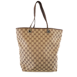 Auth Gucci GG Canvas Tote Bag 31243 Women's GG Canvas Tote Bag Beige