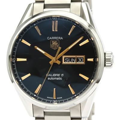 【TAG HEUER】タグホイヤー カレラ キャリバー 5 デイデイト ステンレススチール 自動巻き メンズ 時計 WAR201C