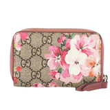 Auth Gucci GG Blooms Coin Case 421310 Women's PVC Coin Purse/coin Case Beige,Pink