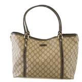 Auth Gucci Tote Bag GG Supreme 197953 Women's Beige