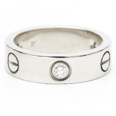 カルティエ(Cartier) ラブ ラブリング B4032500 K18ホワイトゴールド(K18WG) ダイヤモンド バンドリング