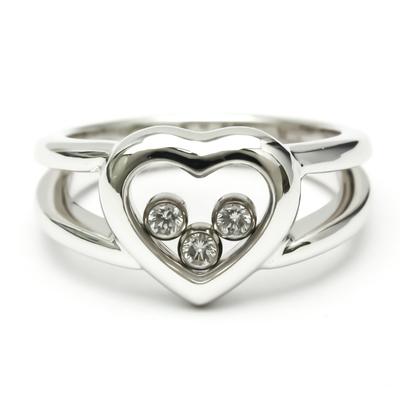 ショパール(Chopard) ハッピーダイヤモンド 82/4611 K18ホワイトゴールド(K18WG) ダイヤモンド バンドリング