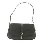 Auth Gucci Jackie Shoulder Bag 001-3306 Women's Canvas Shoulder Bag Black