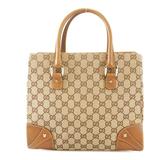 Auth Gucci GG Canvas Tote Bag 139552 Women's GG Canvas Tote Bag Beige