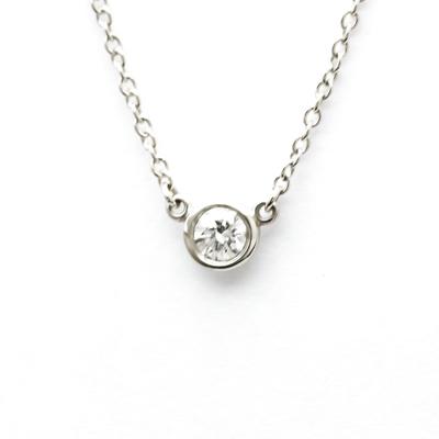 ティファニー(Tiffany) ダイヤモンド バイ ザ ヤード プラチナ ダイヤモンド レディース,メンズ ペンダントネックレス