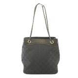 Auth Gucci GG Canvas Handbag 109143 Women's GG Canvas Handbag Black
