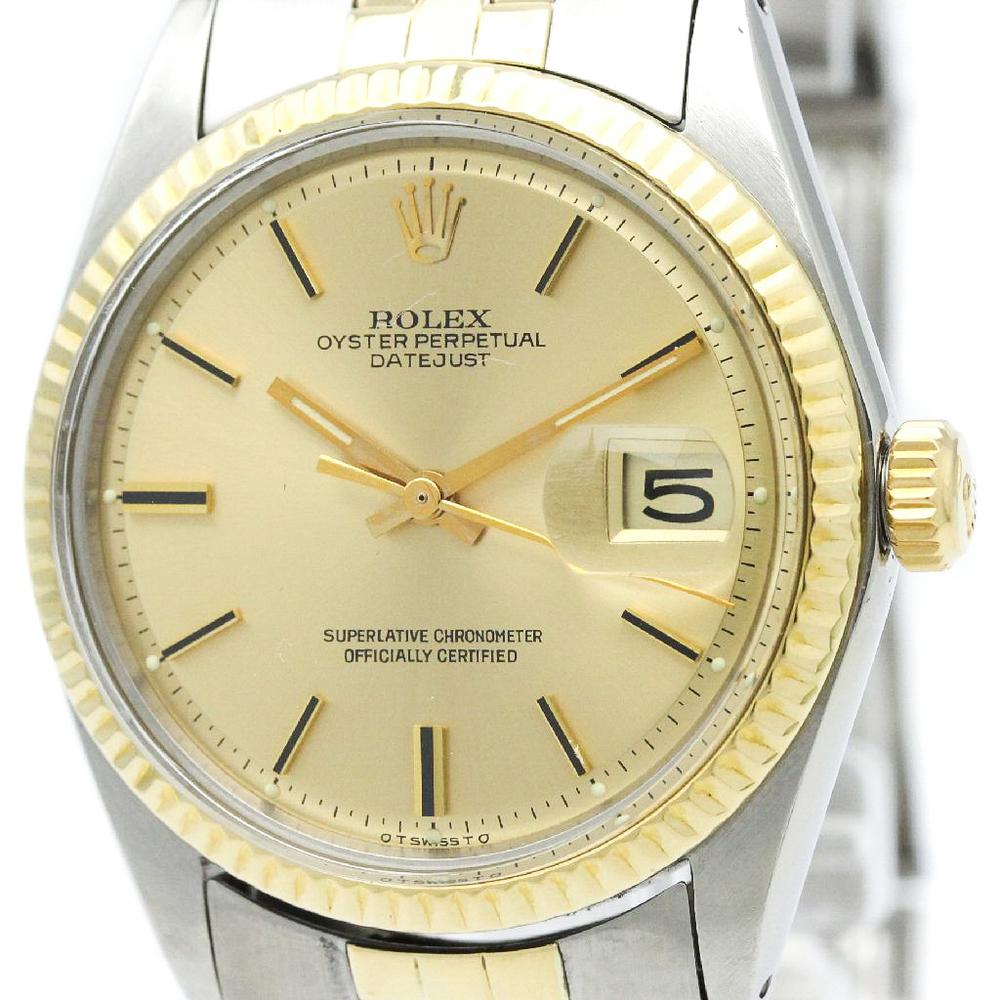【ROLEX】ロレックス デイトジャスト 1601 イエローゴールド ステンレススチール 自動巻き メンズ 時計