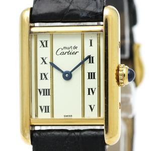Cartier Must Tank Quartz Gold Plated Women's Dress Watch 5057001