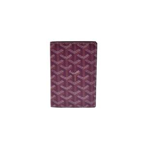 Goyard PVC Accessory Bordeaux,Dark Red,Wine Passport Cover