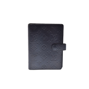 Louis Vuitton Monogram Mat Planner Cover Black,Noir Agenda MM R20925