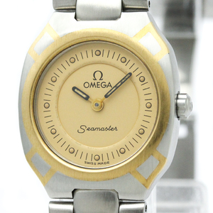 Omega Seamaster Quartz Stainless Steel,Yellow Gold (18K) Women's Dress Watch 795.1022