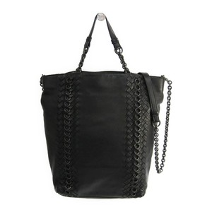 Bottega Veneta Intrecciato Women's Leather Tote Bag Black