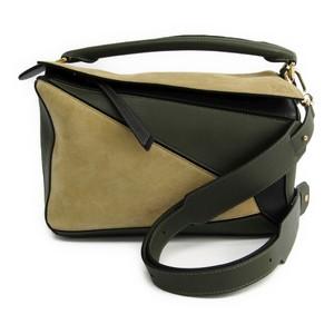 Loewe Puzzle Small Women's Leather Handbag Beige,Black,Khaki