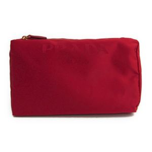 Prada 1NA012 Women's Nylon Pouch Red