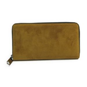 Jimmy Choo MILLY  J000071033001 Women's Suede,Leather Long Wallet (bi-fold) Dark Green,Yellow