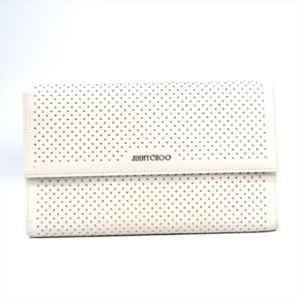 Jimmy Choo Women's Leather Clutch Bag White