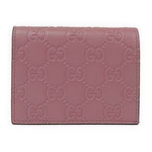 グッチ(Gucci) グッチッシマ レザー カードケース ピンク 410120