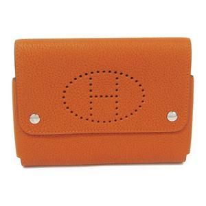 エルメス(Hermes) レザー アクセサリー オレンジ トランプケース