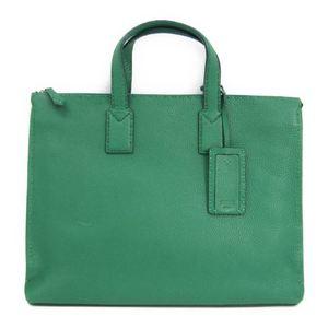 Fendi Selleria 7VA375 Men's Leather Briefcase Green