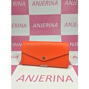 Louis Vuitton Epi M62112 PF Sara Women,Girls Epi Leather Long Bill Wallet (bi-fold) Orange