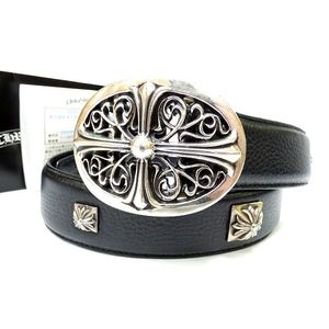 Chrome Hearts Men's Belt Black,Silver 32