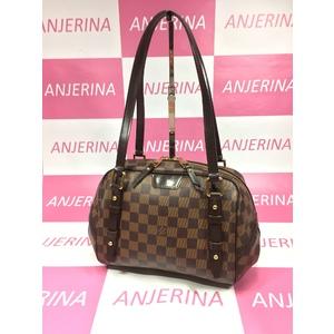 Louis Vuitton Damier Rivington PM N41157 Women's Shoulder Bag Ebene
