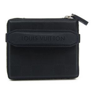 Louis Vuitton Damier Glace M92170 Men's Damier Glace Wallet (bi-fold) Marine