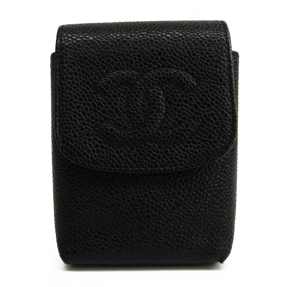 シャネル(Chanel) タバコケース キャビアスキン ブラック A13511