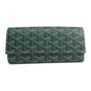 Goyard Varenne Unisex Leather,Canvas Long Wallet (bi-fold) Green