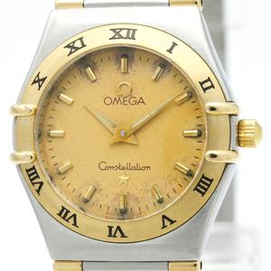 オメガ(Omega) コンステレーション クォーツ K18イエローゴールド(K18YG),ステンレススチール(SS) レディース ドレスウォッチ 1372.10