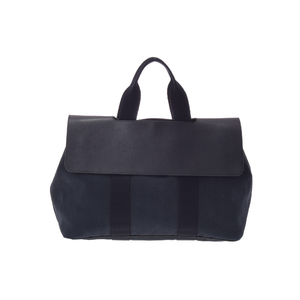 Hermes Valparaiso HERMES Boys,Men Canvas Handbag Black