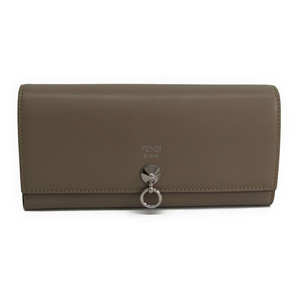 フェンディ(Fendi) 8M0251 レディース  カーフスキン 長財布(二つ折り) ベージュ