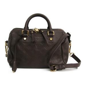 Louis Vuitton Monogram Empreinte Speedy Bandouliere 25 M40761 Women's Handbag Earth