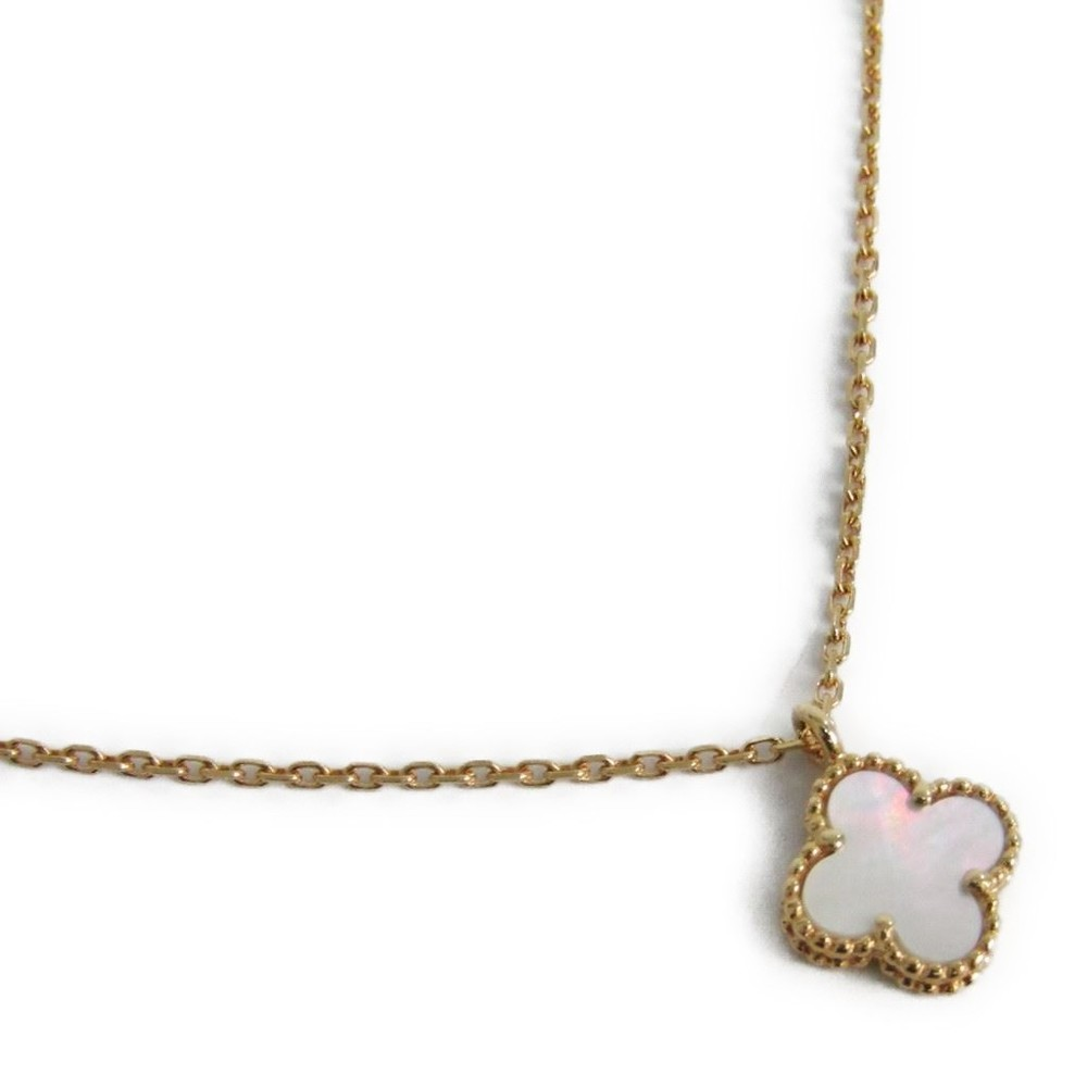 necklace arpels sweet pink pendant gold cleef van alhambra
