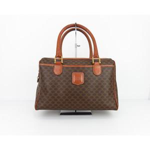Celine (Celine) Women's PVC Handbag Brown M06 Madam Vitige Brown
