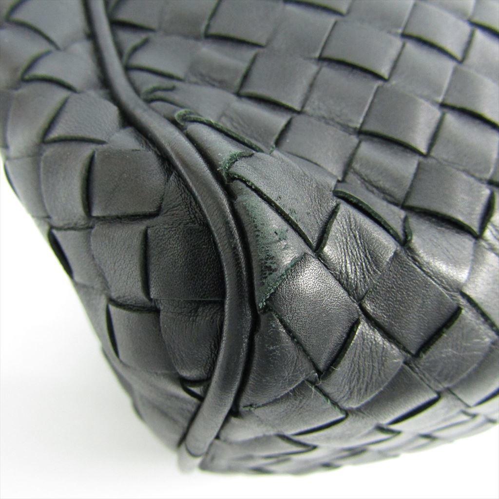 869ea53ea7 Bottega Veneta Intrecciato 174361 Men s Leather Clutch Bag Black ...