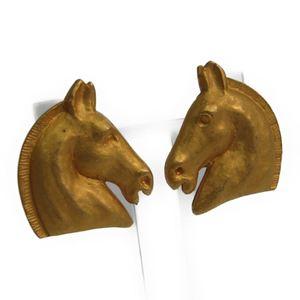 エルメス(Hermes) シュバル メタル クリップイヤリング ゴールド
