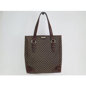 Celine Macadam Women's Canvas Leather Tote Bag Brown