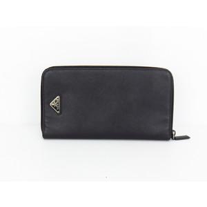 プラダ(Prada) Saffiano レディース,メンズ,ユニセックス レザー 財布(二つ折り) ブラック