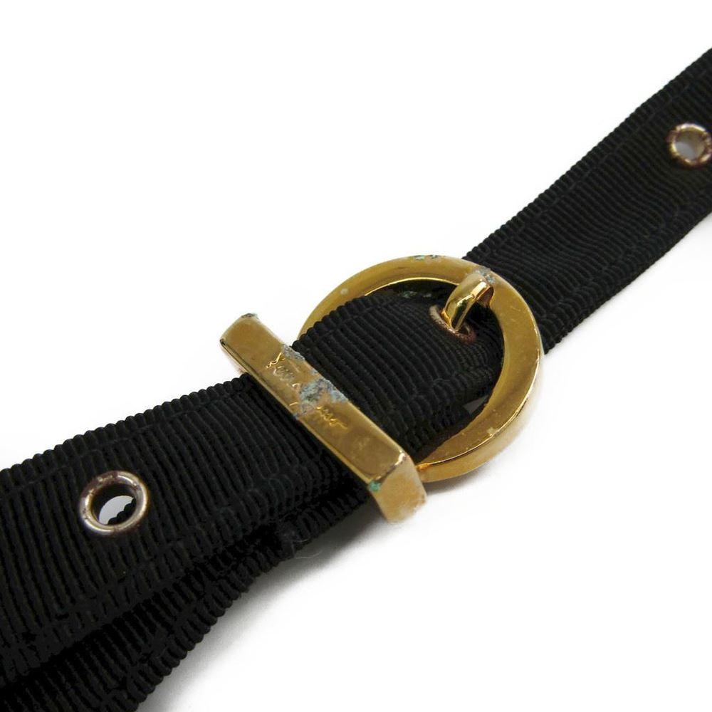 d1bf15ad4b Salvatore Ferragamo Vara BC216184 Nylon Canvas Handbag Black