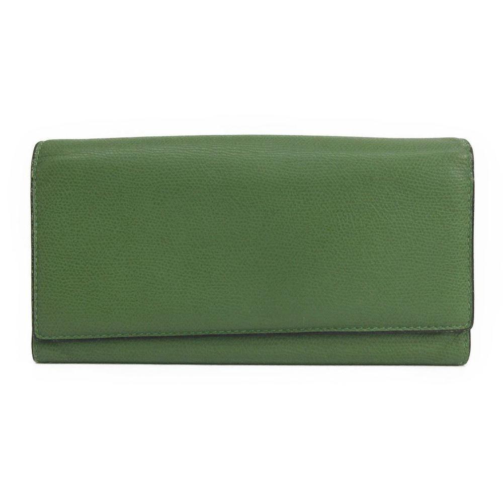 ヴァレクストラ(Valextra) ユニセックス レザー 長財布(二つ折り) グリーン