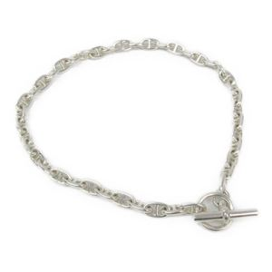 Hermes Chaine D'Ancre Silver 925 Women's Necklace (Silver) MM