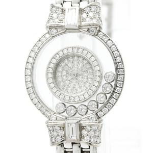 ショパール(Chopard) ハッピーダイヤモンド クォーツ K18ホワイトゴールド(K18WG) レディース ドレスウォッチ 20/5596