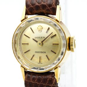 Rolex Precision Mechanical Yellow Gold (18K) Women's Dress Watch
