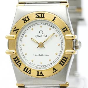 OMEGA Constellation 18K Gold Steel Ladies Watch 795.1080